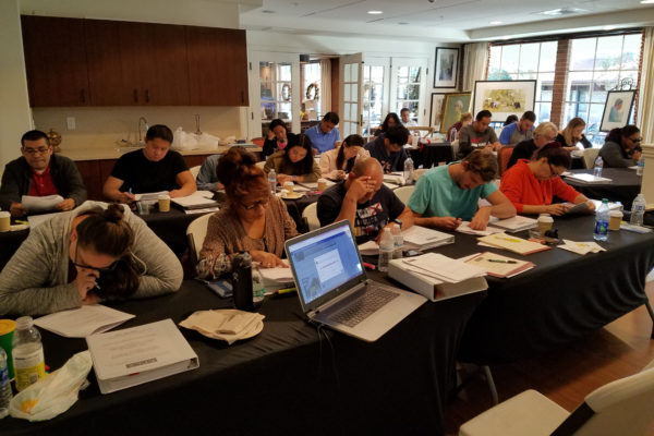 Initial Certification classroom with students